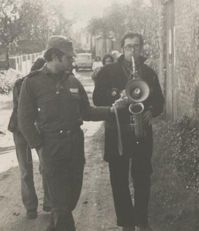 Pasacalle en la zona de Viseu, Portugal (1975).